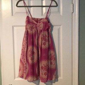 Free people pink baby doll dress.